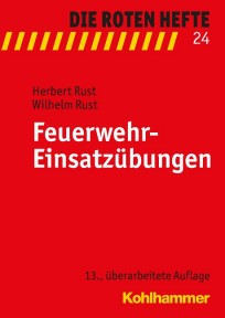 Die Roten Hefte, Heft 24 - Feuerwehr-Einsatzübungen