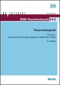 DIN-Taschenbuch 243. Feuerwehrgerät