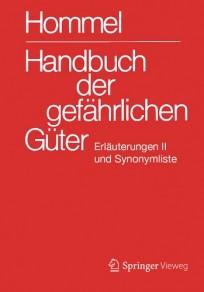 Hommel Handbuch der gefährlichen Güter. Erläuterungen 2